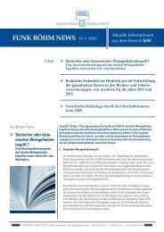 Funk Vorsorge News Ausgabe 4/2010 Statischer oder - Funk Gruppe