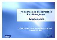 Klinisches und ökonomisches Risk Management - Funk Gruppe