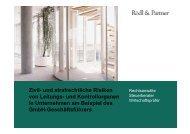 Zivil- und strafrechtliche Risiken von Leitungs- und ... - Funk Gruppe