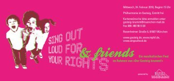 Sing out loud for your rights - Gasteig
