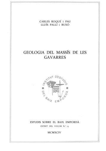 GEOLOGIA DEL MASSÍS DE LES GAVARRES