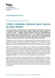 L'Italie, révélation décisive dans l'œuvre du jeune Mozart