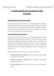 Criteris de qualitat de l'aigua regenerada segons - Ajuntament de ...