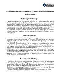 Download AGBs (PDF) - GateWare Communications GmbH