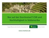 Nur auf der Durchreise!? CSR und Nachhaltigkeit in Südamerika