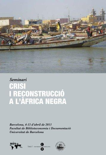CRISI I RECONSTRUCCIÓ A L'ÀFRICA NEGRA - Món-3
