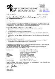 """Seminar: """"Sozialrechtliche Rahmenbedingungen und Vorschriften ..."""