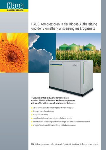 Technischer Prospekt Biogas - HAUG Kompressoren AG