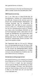 2. Quartal 2006 - GBK AG
