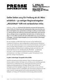 Gelbe Seiten 2013 für Freiburg ab 18. März erhältlich ... - G. Braun