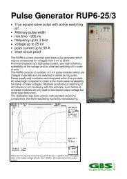 Pulse Generator RUP6-25/3 - GBS Elektronik GmbH