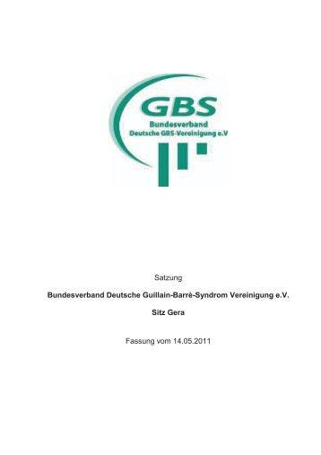 Satzung des Vereins - GBS-Selbsthilfegruppe Sinsheim e.V.