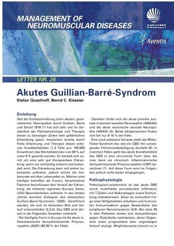 Akutes Guillain-Barré-Syndrom von Aventis