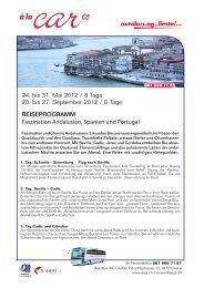 24. bis 31. Mai 2012 / 8 Tage 20. bis 27 ... - Autobus AG Liestal