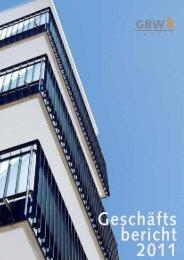 Geschäftsbericht 2011 - GBW Gruppe
