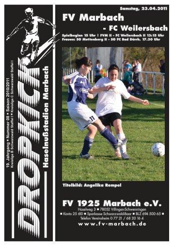 FV Marbach - FC Weilersbach - FV 1925 Marbach e.V.
