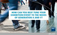 How can you best tune your exHibition/event to tHe needs of Generation x and y?