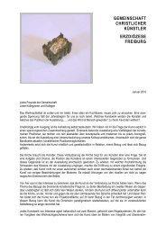 Gedanken zu Weihnachten Benedikt Forster - Gemeinschaft ...