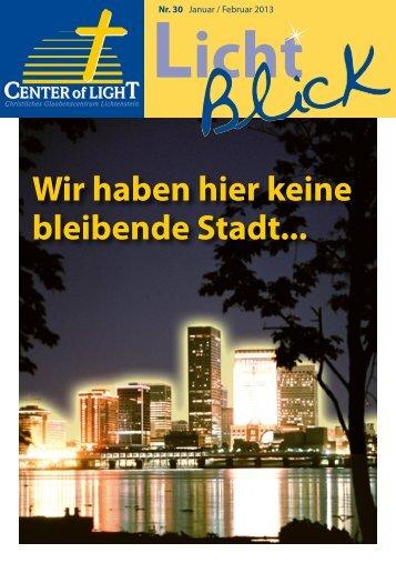 Lichtblick Nr. 30 - Januar/Februar 2013 - GCL Lichtenstein