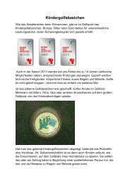 Kindergolfabzeichen - Golfclub  Mettmann