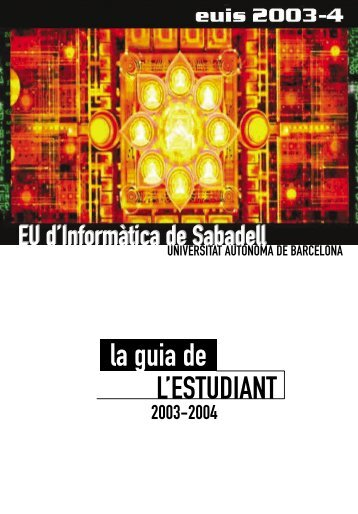 La Guia de l'estudiant, 2003-04 - Dipòsit Digital de Documents de la ...
