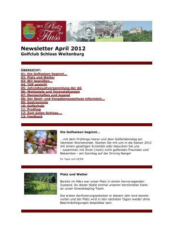 Newsletter April 2012 - Golfclub Schloss Weitenburg AG