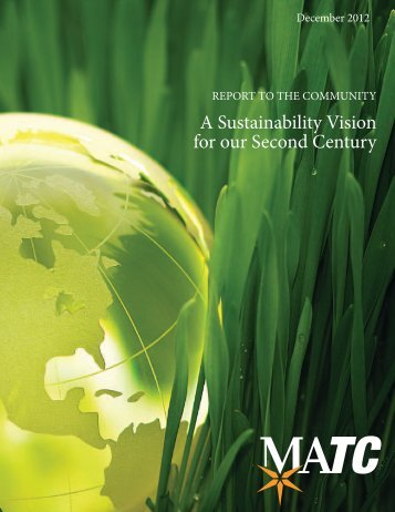 A Sustainability Vision for our Second Century