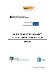 Informe Foment Ocupacio Dona - CEPTA