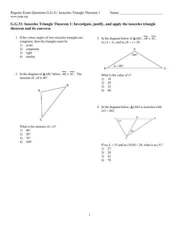 worksheets isosceles triangle theorem worksheet opossumsoft worksheets and printables. Black Bedroom Furniture Sets. Home Design Ideas