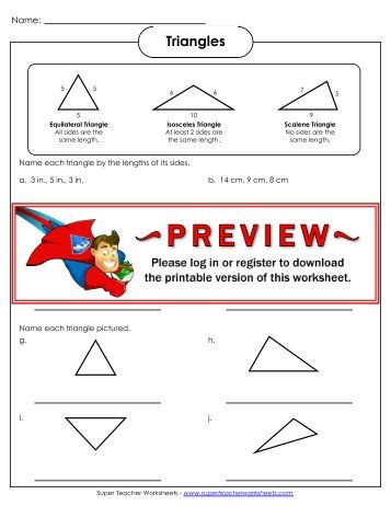 Triangles - Super Teacher Worksheets