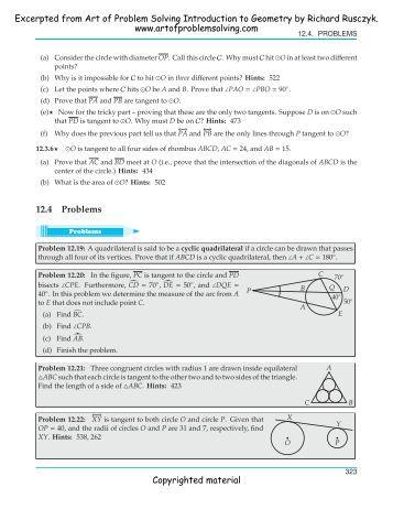 Problem solving geometry