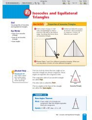 4.3 Isosceles and Equilateral Triangles