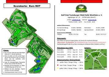 Scorekarte: Kurs ROT - im Golf Club Teutoburger Wald