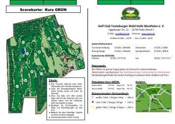 Scorekarte: Kurs GRÜN - im Golf Club Teutoburger Wald