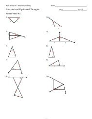 4-Isosceles and Equilateral Triangles - Kuta Software