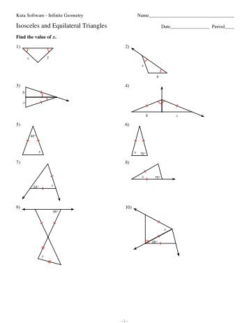 4 isosceles and equilateral triangles kuta software. Black Bedroom Furniture Sets. Home Design Ideas