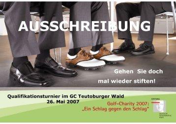 AUSSCHREIBUNG - im Golf Club Teutoburger Wald