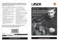Cop SER Copyrigh LASER Copyright L ight LASER ... - Laser Tools