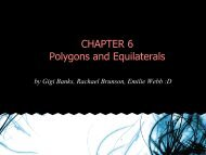 CHAPTER 6 Polygons and Equilaterals - Peninsula