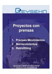 Proyectos con Prensas - Geysehn, S.L. - Interempresas