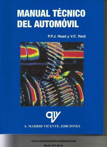 Manual Técnico del Automóvil - Mecanica del Automovil