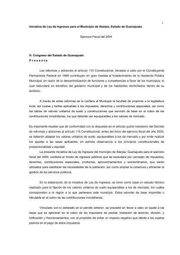 Atarjea - Congreso del Estado de Guanajuato