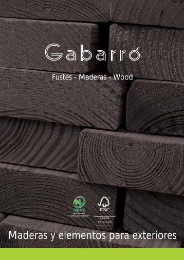 Maderas y elementos para exteriores - Gabarró