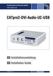 G&D CATpro2-DVI-Audio-UC-USB - Guntermann und Drunck GmbH