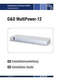 G&D MultiPower-12 - Guntermann und Drunck GmbH