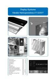 Preisliste Banner Display 01/2007