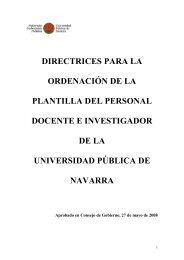 directrices para la ordenación de la plantilla del personal docente e ...