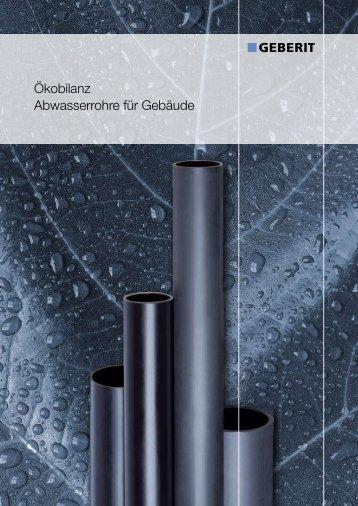 Ökobilanz Abwasserrohre für Gebäude - Geberit International AG