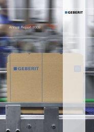 Annual Report 2009 - Geberit International AG