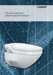 Life cycle assessment Geberit AquaClean 8000plus